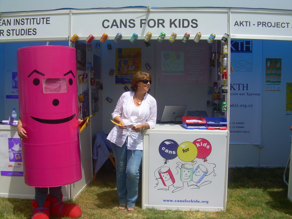 CANS FOR KIDS AT THE CIVIL SOCIETY FAIR