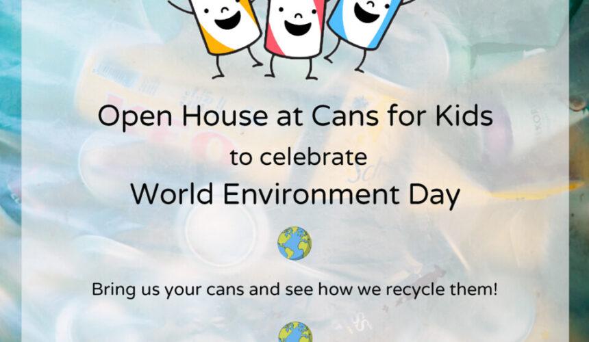 Ο Σύνδεσμος Cans For Kids γιορτάζει την Παγκόσμια Ημέρα για το Περιβάλλον